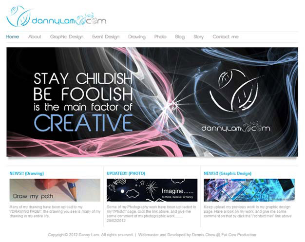 picture of Danny Lam's Online Portfolio screenshot 1 of 2