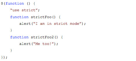 javascript strict mode demo