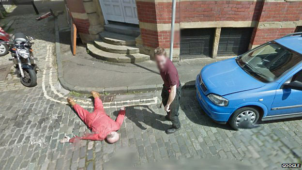 What do you do when you see a Google Street View car?