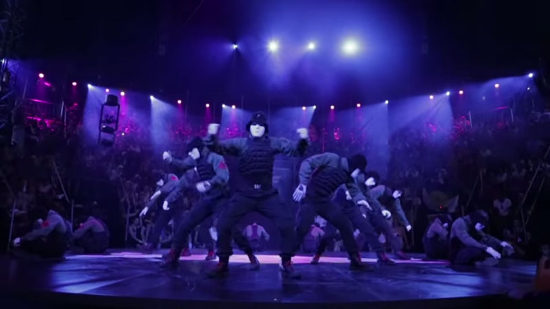 "picture of Jabbawockeez x Super Cr3w teamed up as a group named ""Superwockeez"""