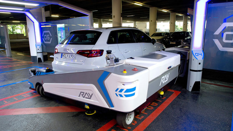 picture of A Robot Valet Will Park Your Car at This Airport